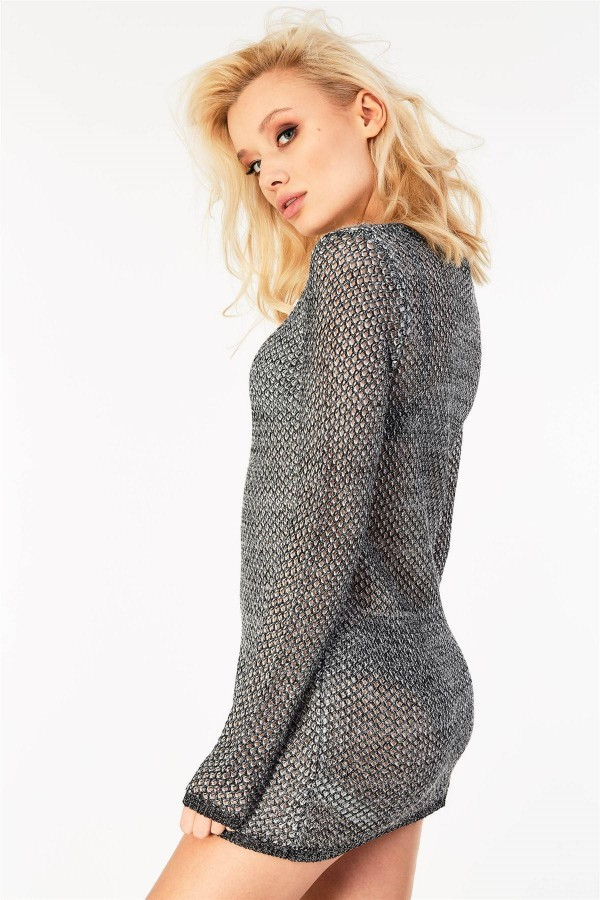 Плетена туника Gorgeous shimmering effect knitted long lenth Jumper