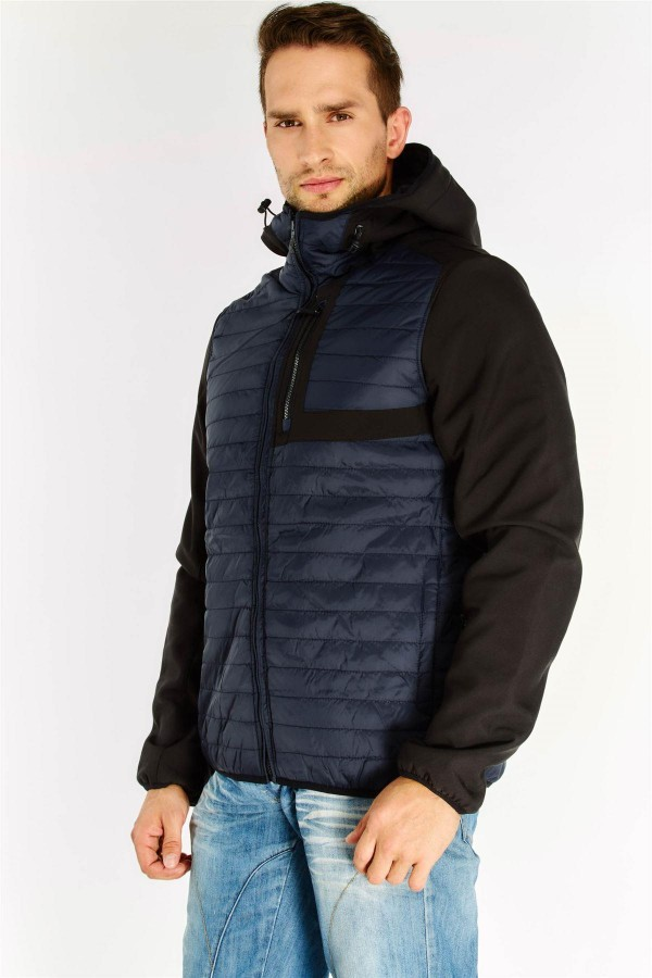 Мъжко яке Navy Quilted Coat