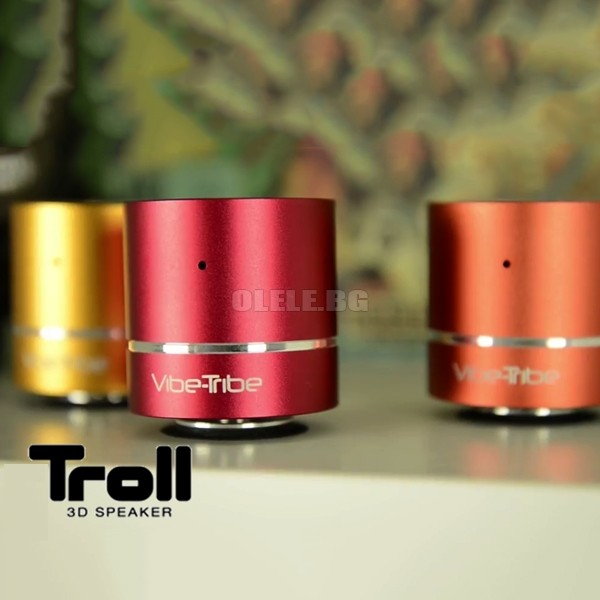 Безжична колонка и MP3 плеър Vibe-Tribe Troll Vibration Multimedia Speakers & MP3 Player Magenta