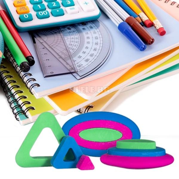 83a67317e2d Комплект разноцветни гумички геометрични фигурки