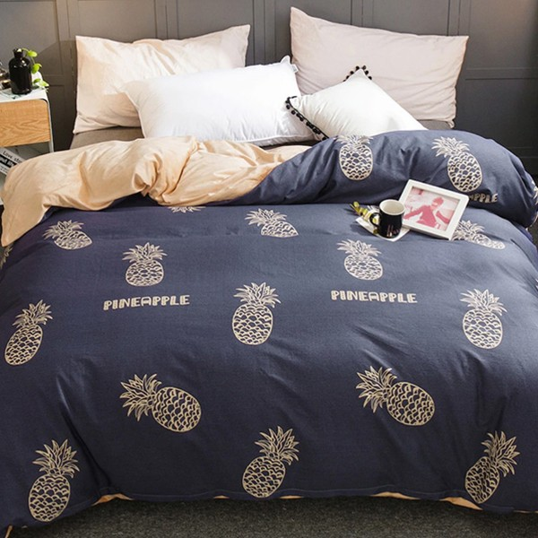 Плик за завивка Pineapple and Letter Print Duvet Cover