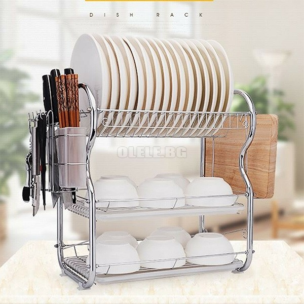 Сушилник за чинии 3 нива 3 Layer Dish Drainer