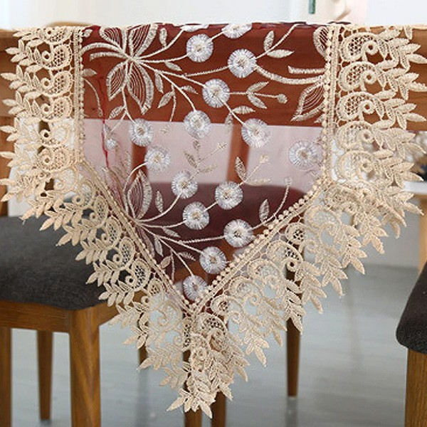 Тишлайфер за маса Floral Embroidery Mesh Table Runner