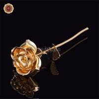 f35de2fea8e Красива позлатена роза в подаръчна кутия